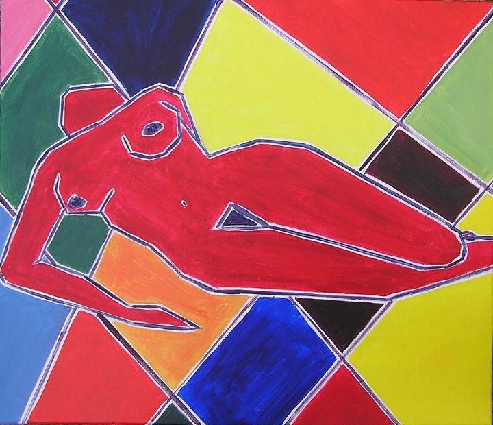 painting nude - valérie jouve