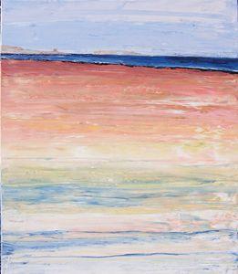 painting beach brittany morbihan
