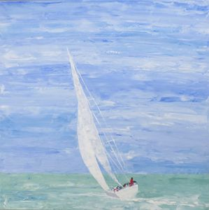 painting sailboat seascape
