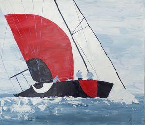 painting sailboat seascape