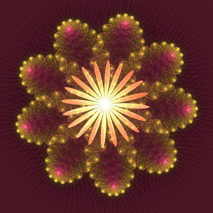 Fire Flower Mandala - Starseed