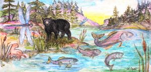 Ontario River Bear and Rainbow Trout