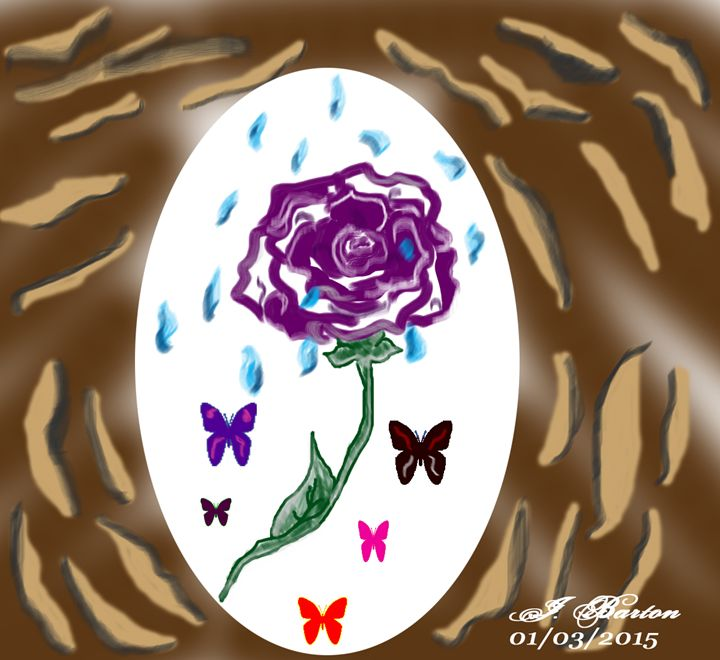 Rose & Butterflies - God's Vision in My Work