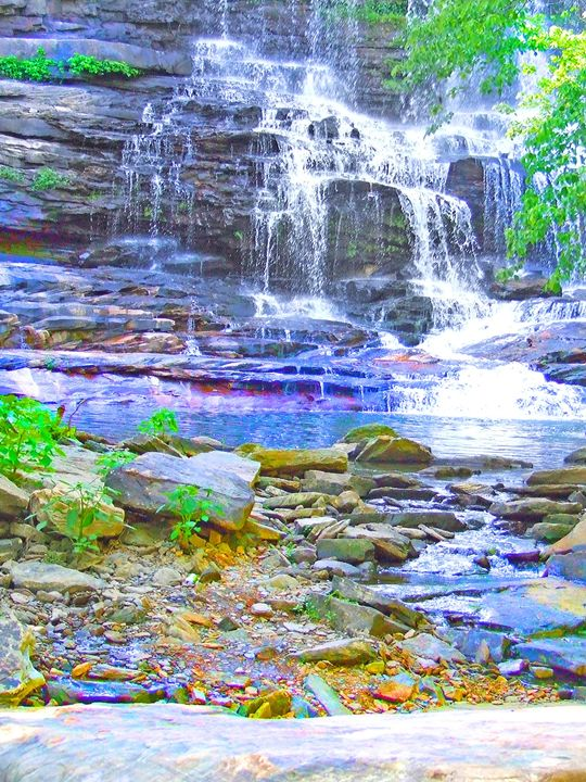 Color Rocks and Water - God's Vision in My Work