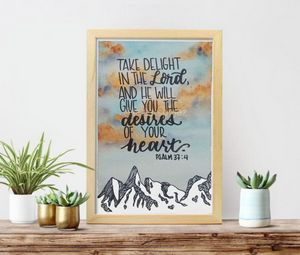 Modern Calligraphy Quote Watercolor