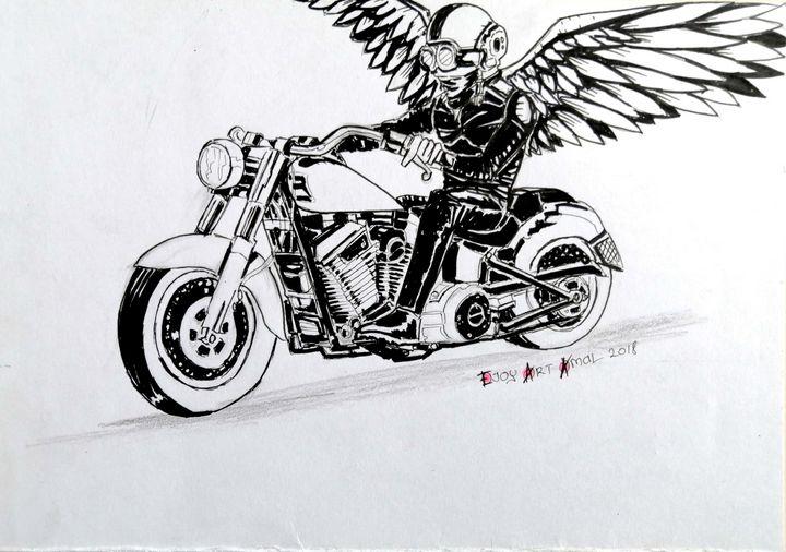 Ride with Sky - HANZALAH77 ART AMAL