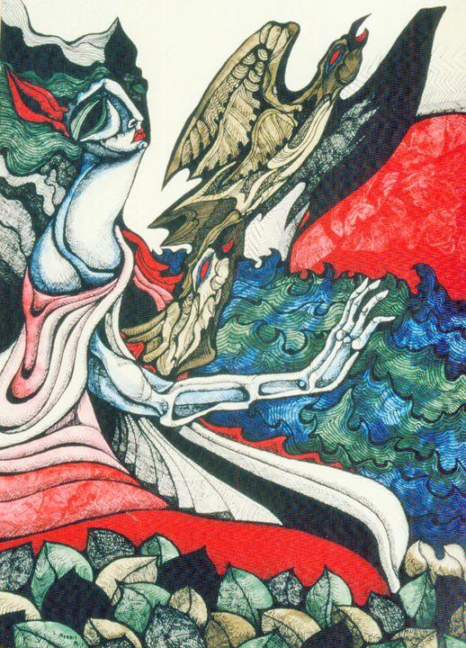 THE FLIGHT OF THE HEART - LYNN (MORRIS) KAUFFMAN
