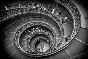 Spiral Stairs B&W