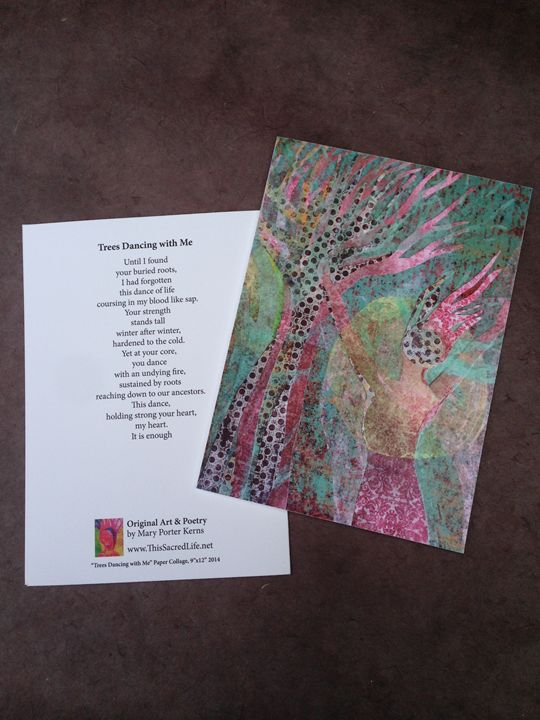 Notecard - Trees Dancing with Me - This Sacred Life