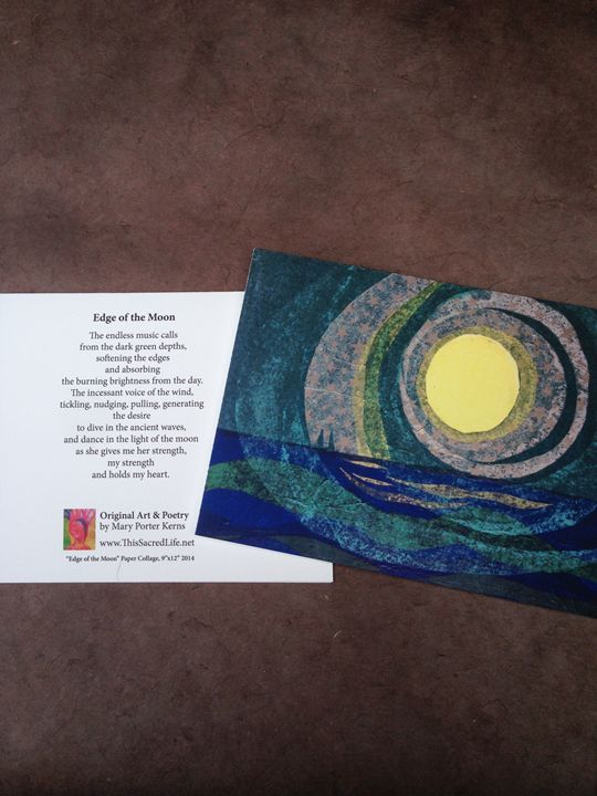 Notecard - Edge of the Moon - This Sacred Life