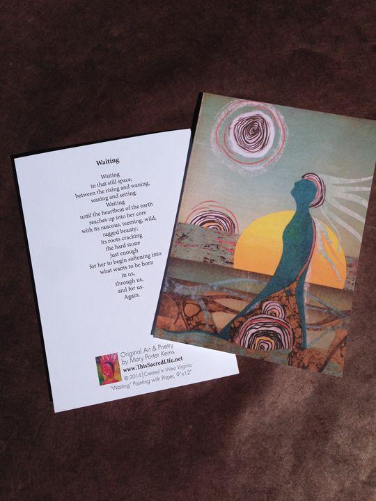 Notecard - Waiting - This Sacred Life