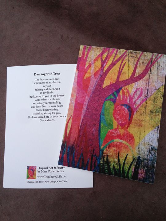Notecard- Dancing with Trees - This Sacred Life