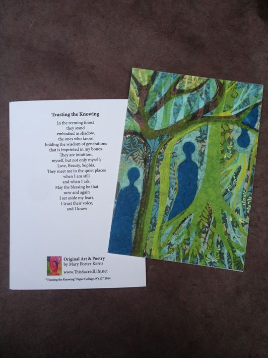 Notecard- Trusting the Knowing - This Sacred Life