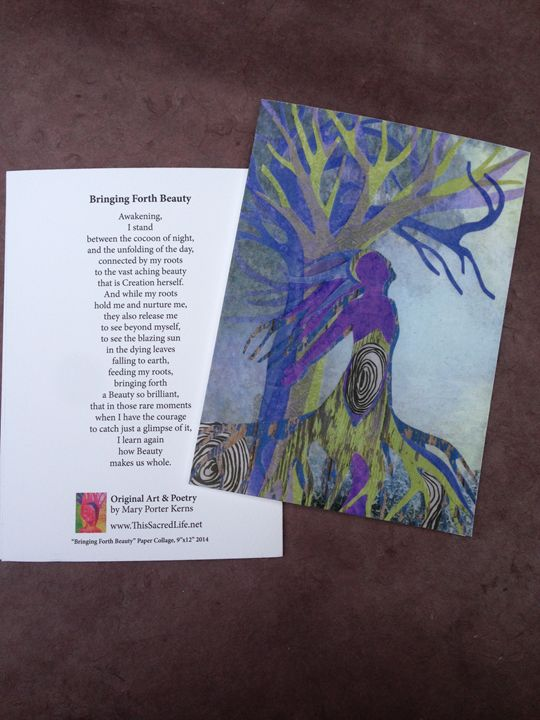 Notecard - Bringing Forth Beauty - This Sacred Life