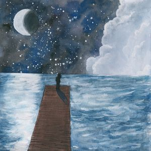 Nighttime ocean