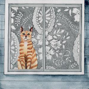 Cat in Window - Shelley Walsh