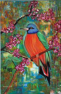 Rainbow Bird and Blossom