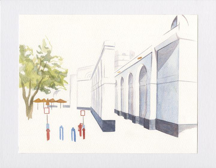 Umiami Glasgow Watercolor - Luke Gardner