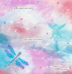 Do What You Can - Water Collages by Scarlett