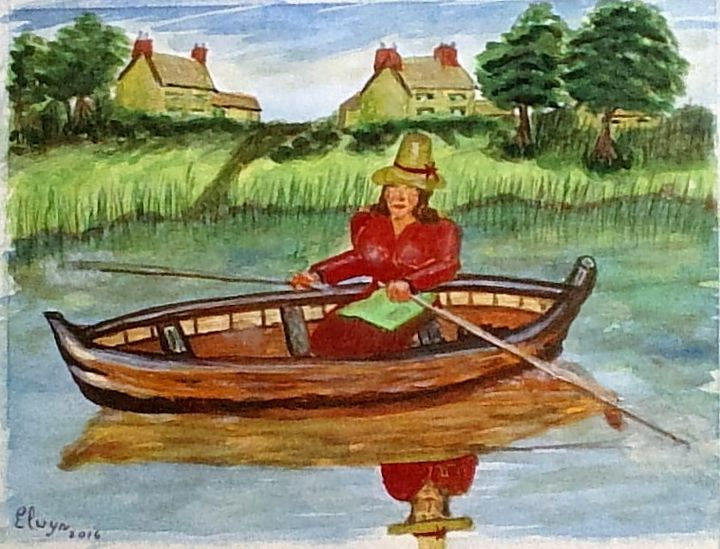 welsh-lady in boat - keith elwyn