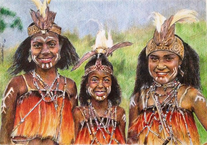 ed15afa67 Sentani Girls - Papua from Pinterest - Deborah Tomasowa - Drawings ...