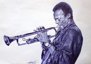 MIles Davis and his trumpet