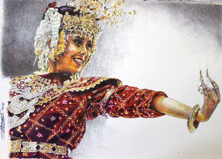 The Gending Sriwijaya Dancer - Deborah Tomasowa