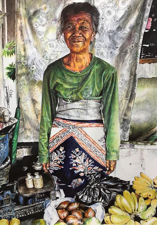 Lady fruit vendor in Java - Deborah Tomasowa