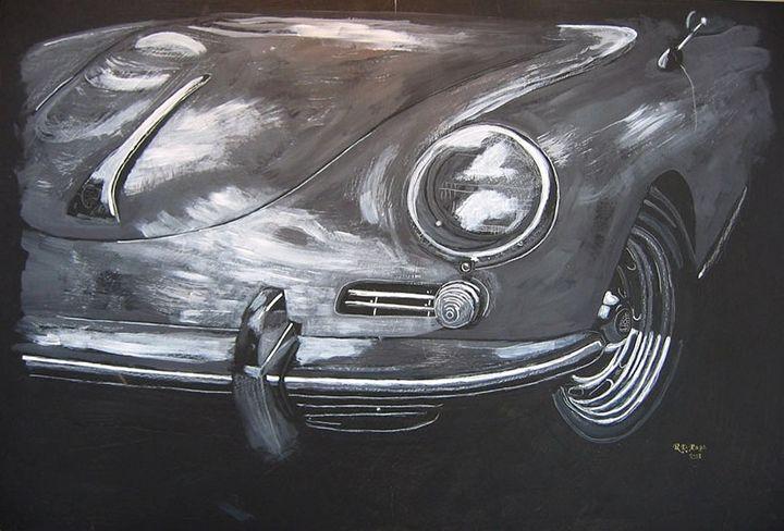 356 Porsche Front - Le Page Fine Art