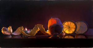 Lemons by candlelight 9 x 16