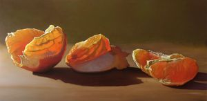 Three Stages of my Orange oil 24x48