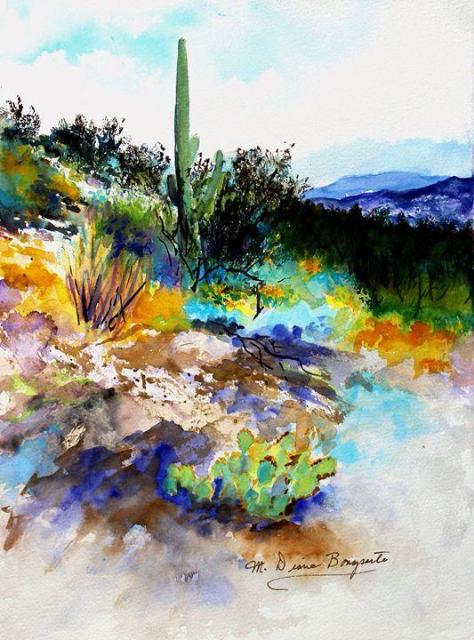 High Desert Scene - M Diane Bonaparte
