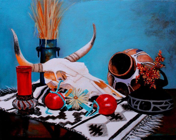 Skull Still Life - M Diane Bonaparte