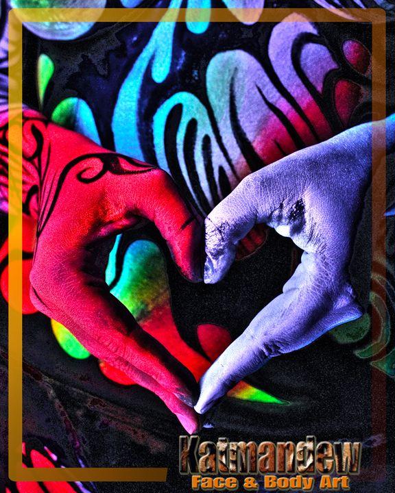 Neon Heart - Katmandew Face & Body Art