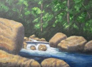 Wilderness Stream - Jules Hilliard Studio