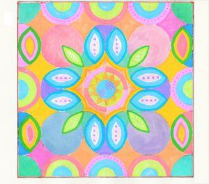 pastel rainbow mandala