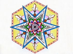Glass Sheild Mandala