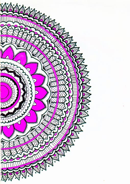 Half bloom Mandala - Pink Pouf