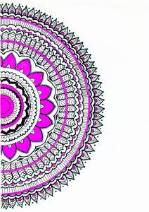 Half bloom Mandala
