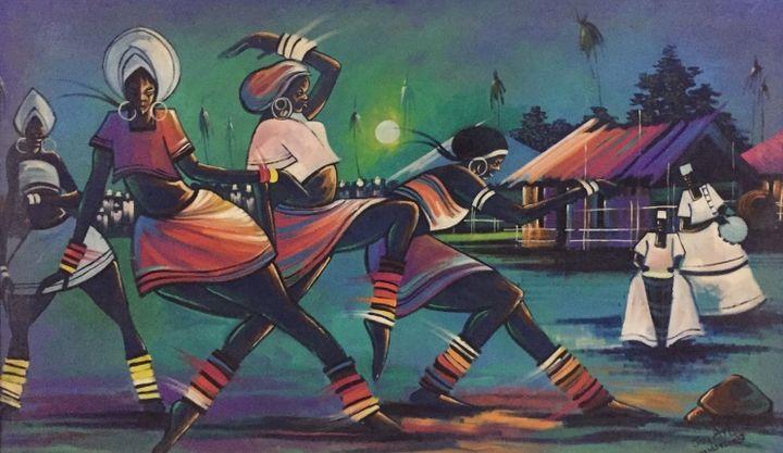 African moonlight - Universal paintings