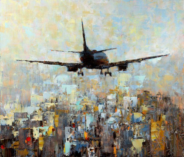 Plane over city - Dmitry Kustanovich