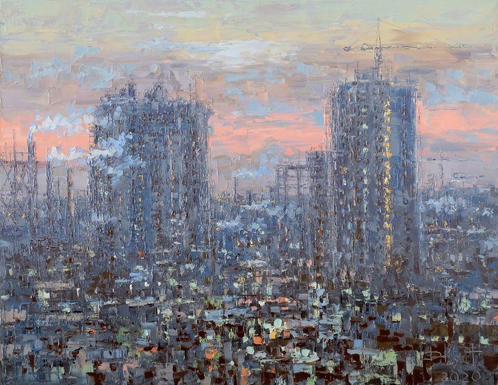 Evening over the city - Dmitry Kustanovich