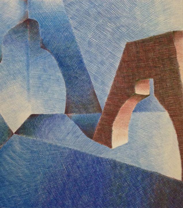 Blue Shapes - Z. Louis Edelstein