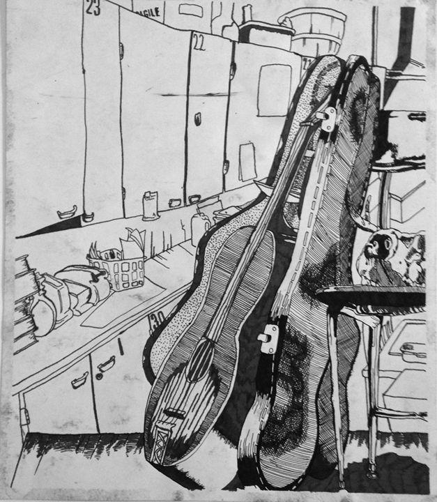 Violin in Case - Z. Louis Edelstein