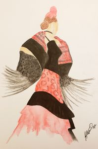 Flamenco Dancer in Watercolor