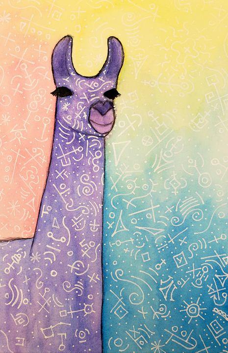 Llama in watercolor - Todd Pope