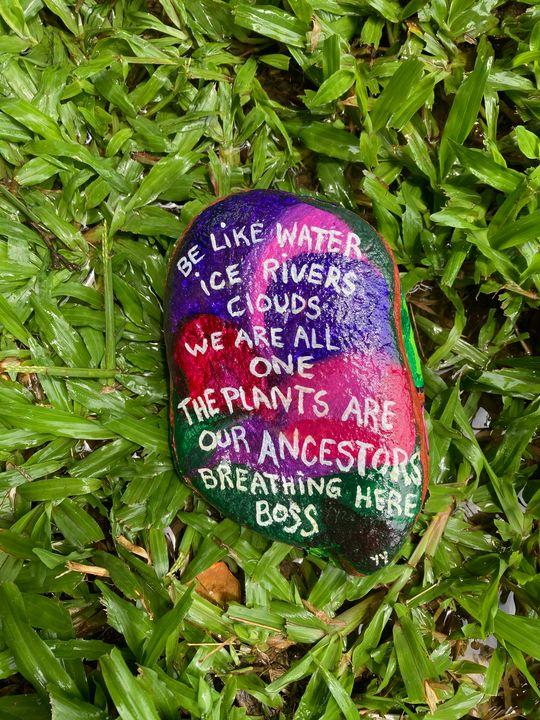 Ancestor rock poem - Just Lupita aka Yaqui Yaiyai