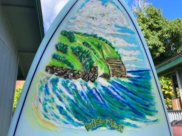 Backdoor Kauai surfboard - Just Lupita aka Yaqui Yaiyai