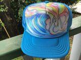 Unicorn blue wave hat