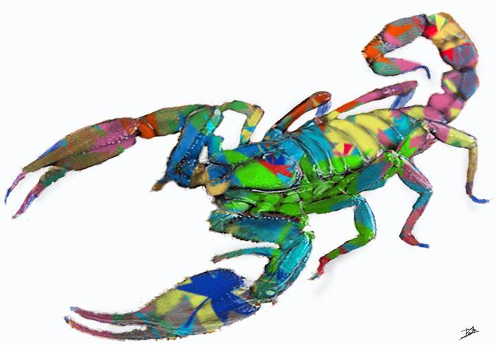 colourfull scorpio - Artbazz
